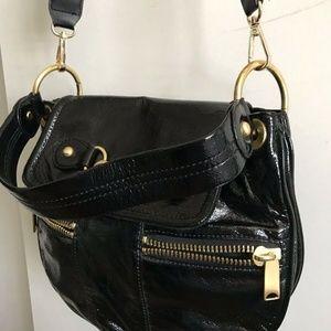 Cynthia Rowley Bags - CYNTHIA ROWLEY Medium Black Patent Crossbody Bag